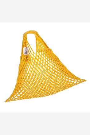 Rugalmas hálós táska, cseh termék, mustársárga