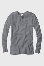 Pánské tričko žebrované dlouhý rukáv