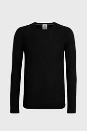 Pánské tričko s dlouhým rukávem v černé barvě