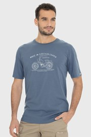 Modrošedé tričko Bushman Bobstock