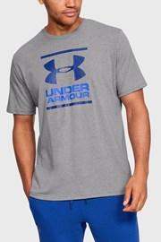 Šedomodré tričko Under Armour Foundation