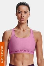 Růžová sportovní podprsenka Under Armour Crossback Heather