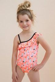 Dívčí jednodílné plavky Flamingo