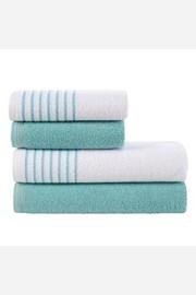 Sada ručníků a osušek Eleganza tyrkysová