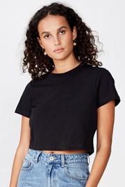 Dámské basic triko s krátkým rukávem Baby černá