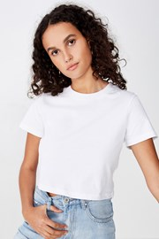 Dámské basic triko s krátkým rukávem Baby bílá