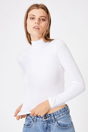 Dámské basic triko s rolákem Mila bílá