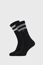 2 PACK černých ponožek Calvin Klein Maurice