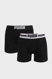 2 PACK černých boxerek Puma Placed Logo