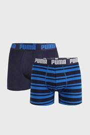 2 PACK modrých boxerek Puma Heritage Stripe