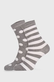 2 PACK sivých dámskych ponožiek Long