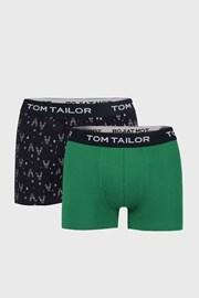 2 PACK modrozelených boxerek Tom Tailor
