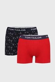 2 PACK czerwono-niebieskich bokserek Tom Tailor