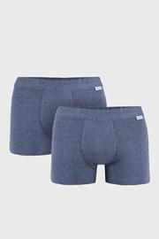 2 PACK modrých boxerek Uomo Extra