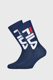 2 PACK tmavě modrých vysokých ponožek FILA