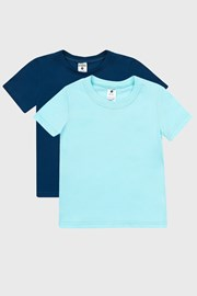 2 PACK modrých chlapeckých triček