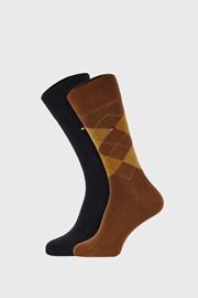 2 PACK khaki ponožek Tommy Hilfiger Check
