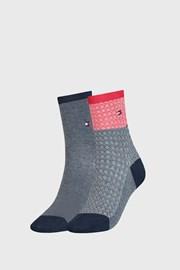2 PACK dámských ponožek Tommy Hilfiger Argyle III