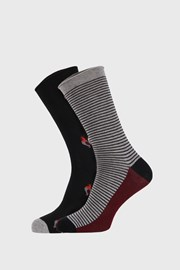 2 PACK pánských vzorovaných ponožek FANTASY černá