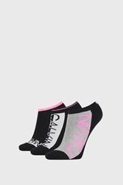 3 PACK dámských ponožek Calvin Klein Nola černé
