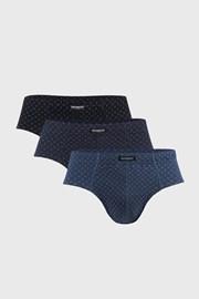 3 PACK μπλε με μαύρο σλιπ Classic
