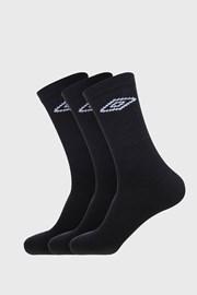 3 PACK černých ponožek Umbro Tennis