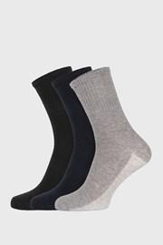 3 PACK barevných sportovních ponožek unisex