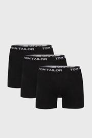 3 PACK delších černých boxerek Tom Tailor