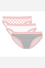 3 pack σλιπ για κορίτσια Pink Line