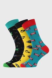 3 PACK vysokých ponožek Bellinda Crazy Hobby
