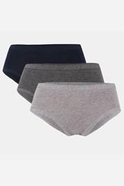 3 PACK klasických bavlněných kalhotek Linda