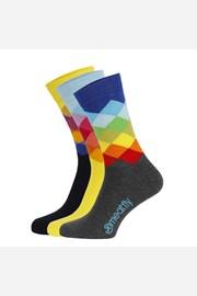3 PACK barevných ponožek Meatfly Pixel