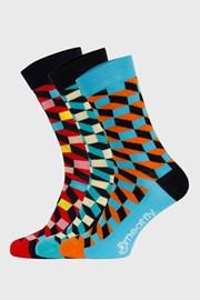 3 PACK barevných ponožek Meatfly Checkers