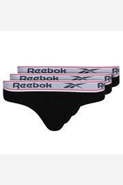 3 PACK sportovních kalhotek Reebok Aria černé
