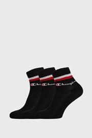 3 PACK černých ponožek Champion Classic stripes