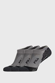 3 PACK šedých ponožek FILA Invisible