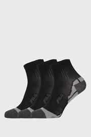 3 PACK černých ponožek FILA Multisport