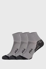 3 PACK šedých ponožek FILA Multisport