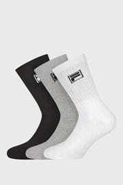 3 PACK tří barev vysokých ponožek s logem FILA