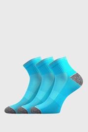3 PACK sportovních ponožek Ray neonově tyrkysový