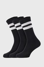 3 PACK černých ponožek Active