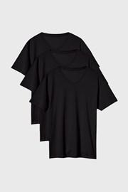 3 PACK černých triček Kane