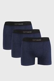 3 PACK tmavě modrých boxerek Seamless Trunk