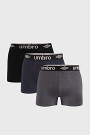 3 PACK boxerek Umbro Organic cotton