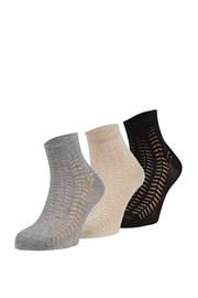 3 pack vzorovaných ponožek Luisa