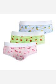 3 PACK dívčích kalhotek Fruit