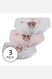 3 PACK dívčích kalhotek Owl