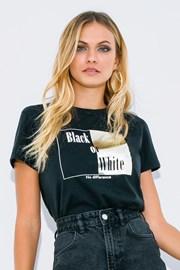 Dámské triko s krátkým rukávem Black or White