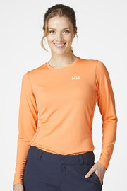 Bluza orange cu maneca lunga Helly Hansen