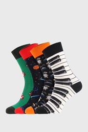 4 PACK κάλτσες Bellinda Crazy Socks Space